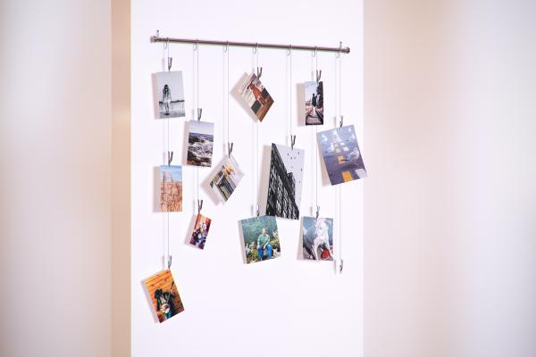 Metal hanger with photos