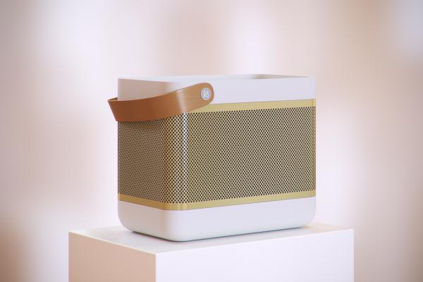 Portable speaker with a handle