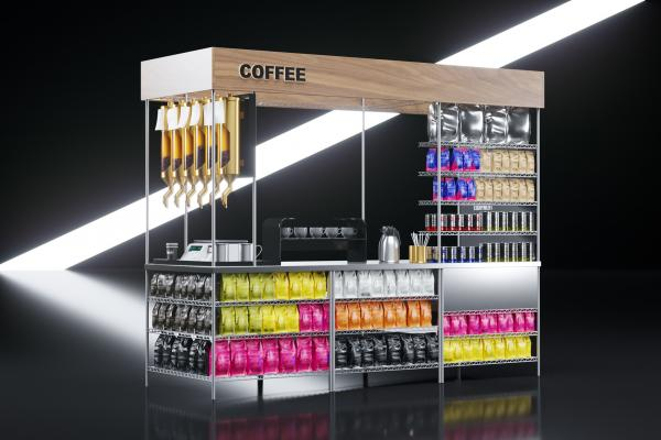 Coffee exhibition stand