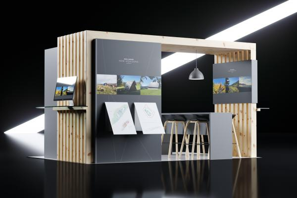 Real estate exhibition stand